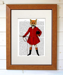 Fox Hunter, Full, Dictionary Print - art & pictures