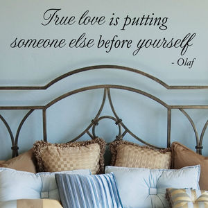 True Love Disney Frozen Wall Sticker