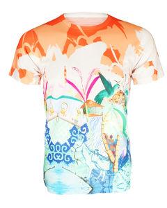 Unisex Orange Hummingbird Handdrawn Design Printed Tee - women's fashion