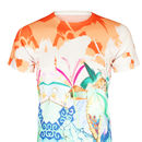 Unisex Orange Hummingbird Handdrawn Design Printed Tee