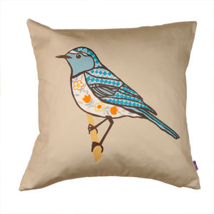 Decorative Bird Cushion - winter sale