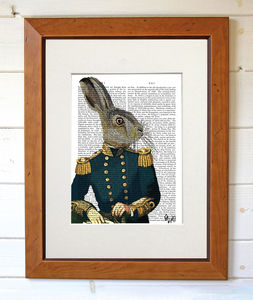 Lieutenant Hare Dictionary Print - posters & prints