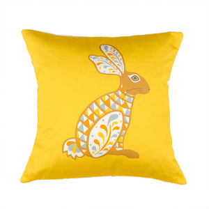Decorative Hare Cushion - bedroom