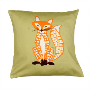 Decorative Fox Cushion - bedroom