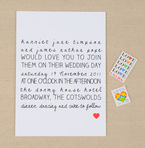 Love Heart Wedding Stationery Suite