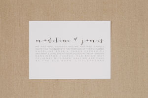 Modern Love Wedding Stationery Suite - wedding stationery