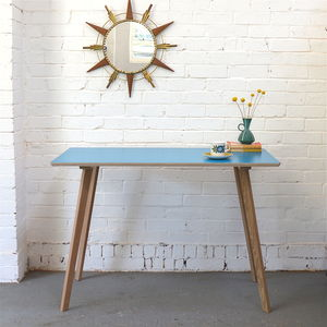 Perky Formica Table, Teal - furniture