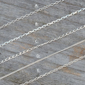 Solid Silver Chains , Trace Chain Curb Chain Rope Chain - children's jewellery