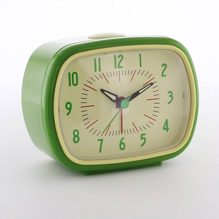 Retro Green Alarm Clock