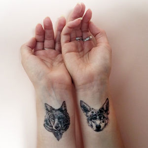 'Wolf Pack' Temporary Tattoos