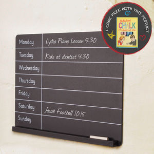 Seven Days Reminder Chalkboard Organiser - kitchen accessories
