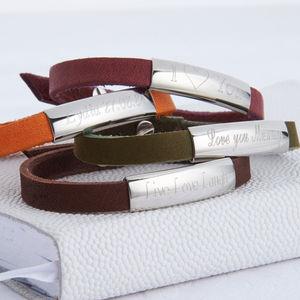 Personalised Leather Bracelet