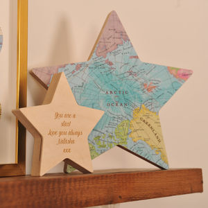 Personalised Map Location Star Keepsake Ornament - our travels