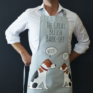 Jack Russell 'Great British Bark Off' Apron - kitchen linen