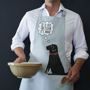 Black Labrador Apron - kitchen accessories