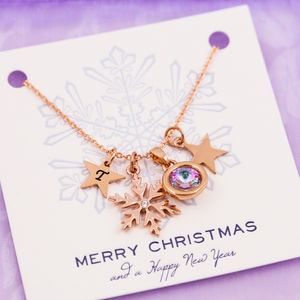 Design Your Own Snowflake Necklace - winter sale