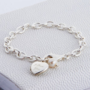 Personalised Sterling Silver Locket Bracelet