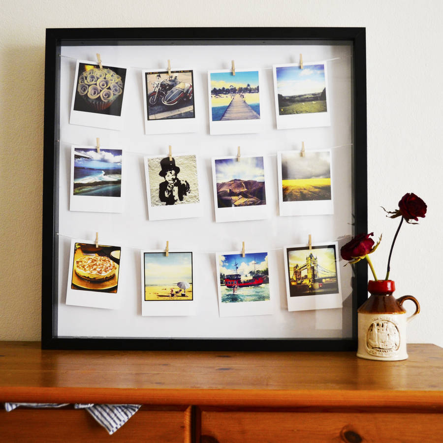 Personalised Photo Peg Frame By Instajunction