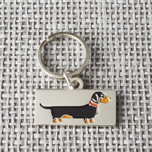 Dachshund / Sausage Dog ID Tag - walking