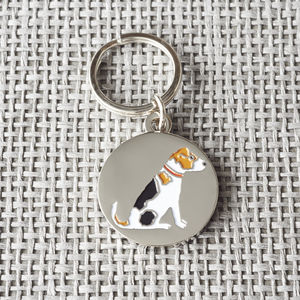 Jack Russell Dog ID Name Tag - winter sale