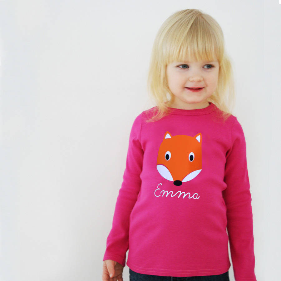 Baby And Child Fox Top Personalised