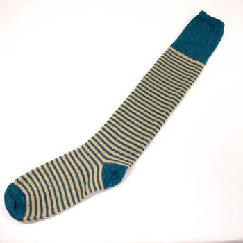 teal over the knee sock