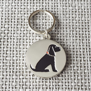 Black Cocker Spaniel ID Dog Tag - pet tags & charms