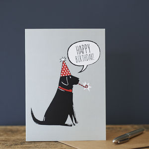 Black Labrador Birthday Card - birthday cards