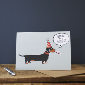 Dachshund / Sausage Dog Birthday Card