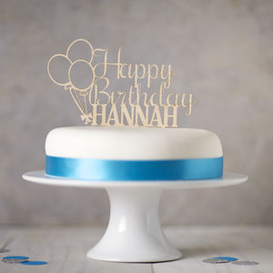 Personalised Wooden Birthday Cake Topper - adults birthday