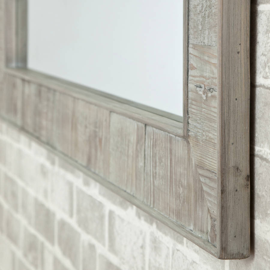 Reclaimed wooden mirror by decorative mirrors online for Reclaimed wood online