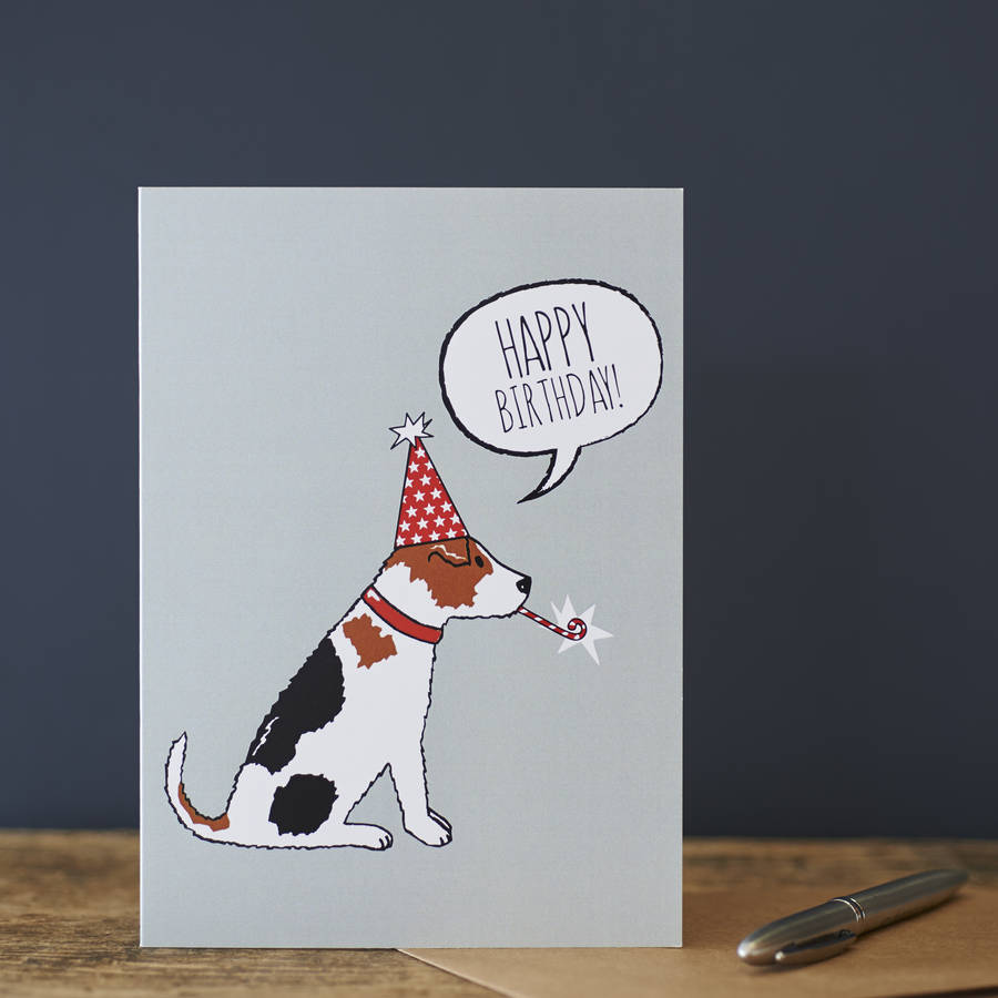 Jack Russell Birthday Card By Sweet William Designs