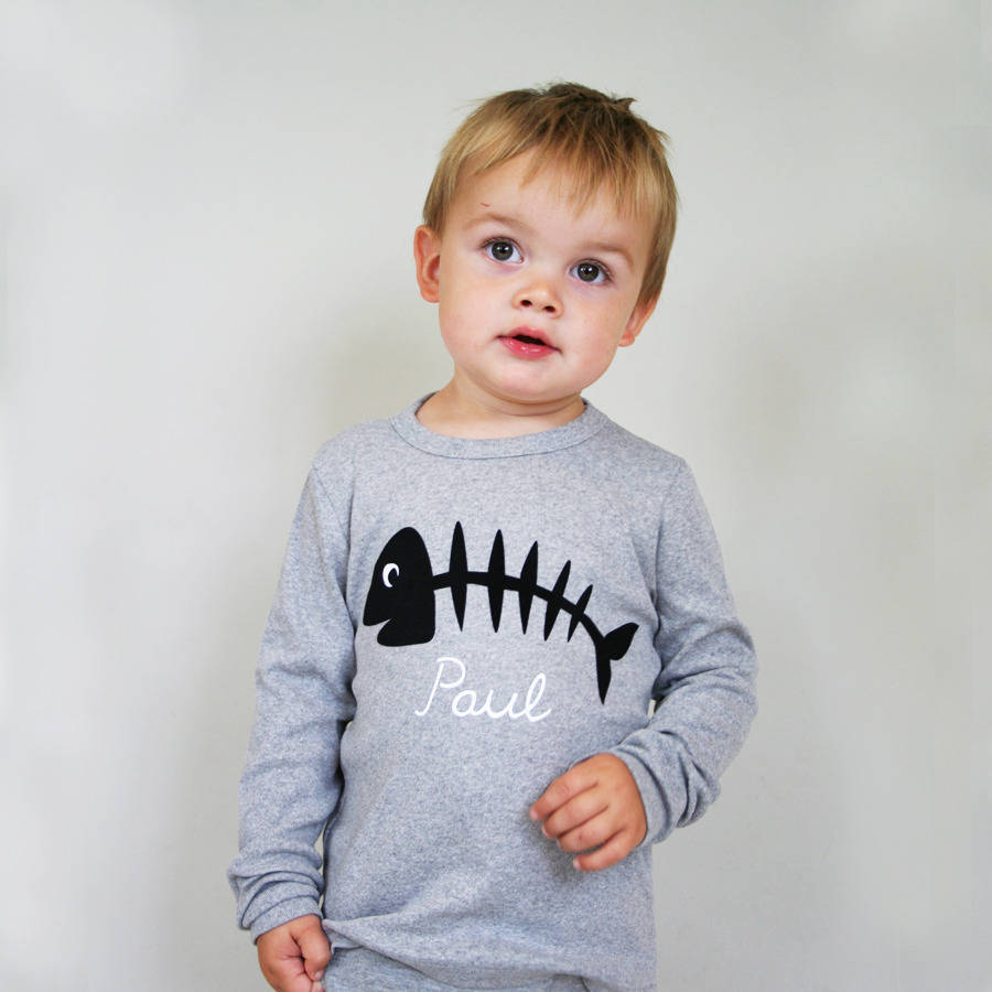 Baby And Child Fishbone Top Personalised
