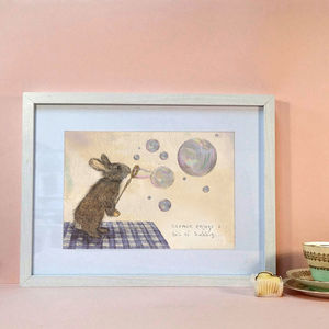'Norman The Rabbit' Signed Art Print - posters & prints for children