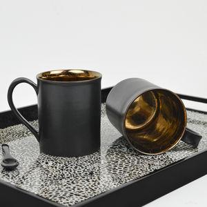 Metallic Bronze Tea Mug - home