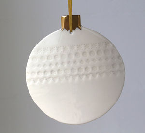 Giant Nordic Bauble With Real Gold Lustre