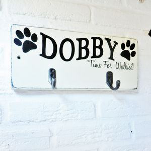 Personalised Dog Lead And Accessory Hooks - baby's room