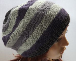 Pure Wool Striped Hat