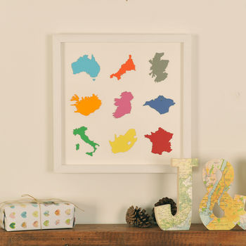 Personalised Paper Silhouette Map Art