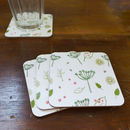 Set Of Four Countryside Coasters