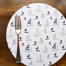 Set Of Four Yacht Placemats - Round