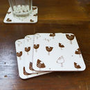 Set Of Four Muddy Hen Coasters