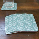 Set Of Four Cow Parsley Coasters