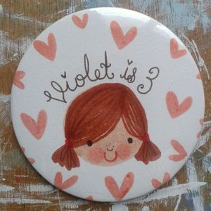 Personalised Girl's Birthday Badge