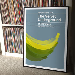 The Velvet Underground Remixed Gig Poster - music