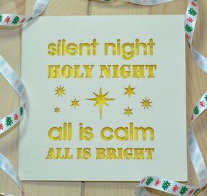 'Silent Night Holy Night' Laser Cut Christmas Card