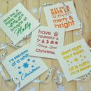 Typographic Laser Cut Christmas Cards Pack Of Five