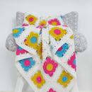 Luxury Bright Granny Square Crochet Blanket Kit