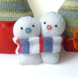Christmas Snowmen Knitting Kit