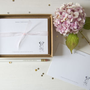 Personalised Dalmatian Dog Correspondence Cards